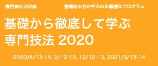 基礎から徹底して学ぶ専門技法2020